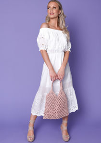 Broderie Anglaise Midaxi Sundress White