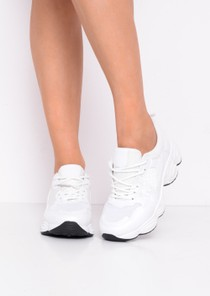 Chunky Lace Up Trainers White