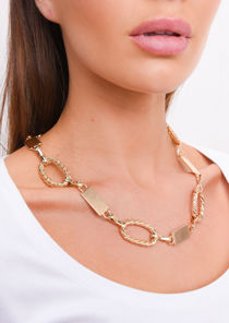 Chunky Linked Chain Necklace Gold