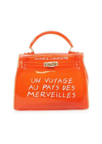 Jelly Clear French Tote Bag Orange