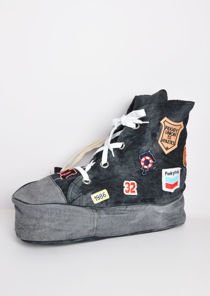 Denim Sneaker Shoe Shape Bag Black