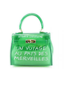 Jelly Clear French Tote Bag Green