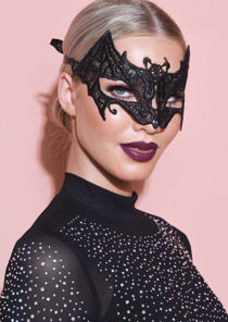 Lace Bat Shaped Eye Mask Black