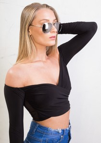 Mirrored Aviator Sunglasses Silver