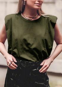 Oversized Tank T shirt Top Green