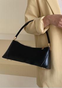 Pu Faux Leather Baguette Mini Shoulder Bag Black