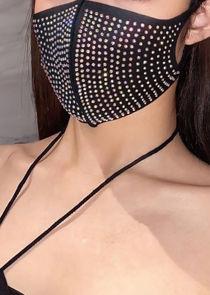 Diamante Hygiene Face Mask Black