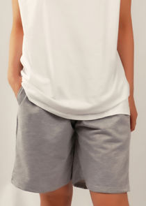 Relaxed Mid Length Casual Shorts Grey