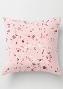 Scattered Diamond Print Cushion Cover Pink