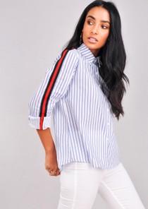 StripedLong Sleeve Shirt Blue