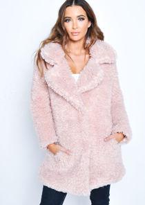 Trucker Borg Jacket Coat Pink