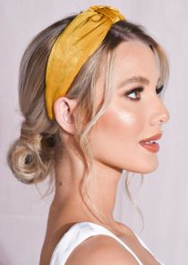 Twist Knot Headband Mustard Yellow
