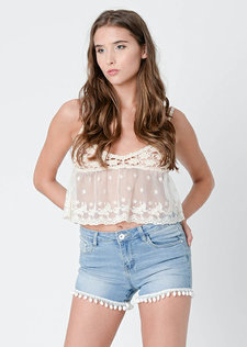 Nieves Lace Crochet Top