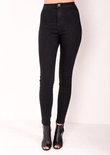 Elle Black High Waisted Skinny Jeans