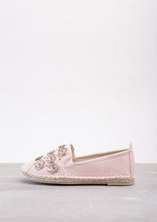 Blossom Espadrilles Flats In Plush Pink