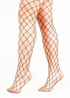 Fishnet Diamond Tights Black