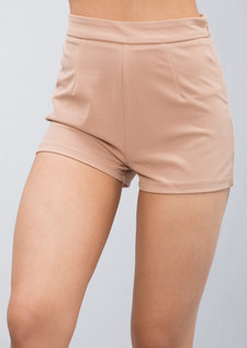 High Waisted Shorts Camel