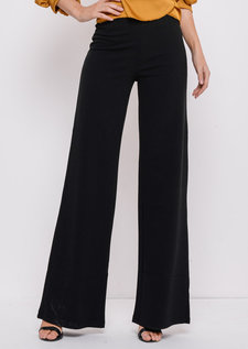 High Waisted Wide LegPalazzo Trousers Black