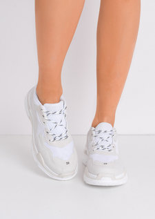 Multi Panel Chunky Trainers White