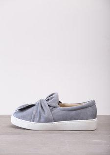 TwistFront Slip On Pumps Sneaker Suede Grey