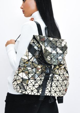 Geometric Backpack Gold