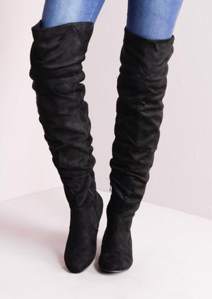 82b76aaae0d Knee High Flat Boots Black
