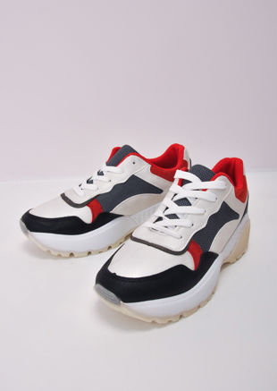 Block Multi Colour Chunky Trainers White