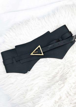 Detachable Faux Leather Buckle Strapped Waist Belt Black