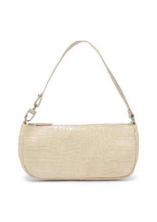 Croc Baguette Mini Shoulder Bag Beige