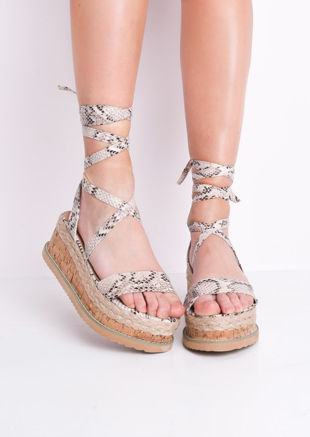 c69810103e2 Lace Up Wedge Platform Sandals
