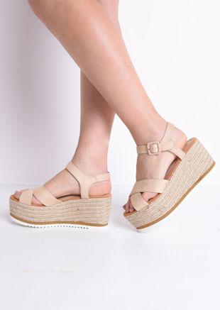 Espadrilles Wedge Sandals Beige