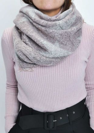 Fringed Large Brushed Star Scarf Shawl Pink