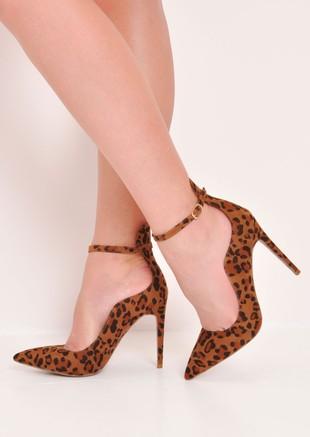 Leopard Print Pointed Stiletto Heels Multi