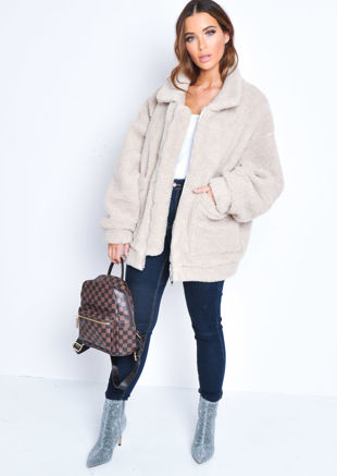 search for newest new appearance hot product Teddy Coats | Borg Teddy Jacket | Fluffy Faux Fur | Lily Lulu