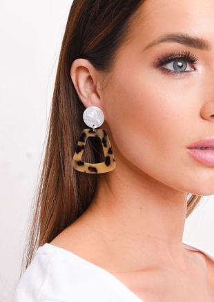 Tortoiseshell Resin Drop Earrings Multi