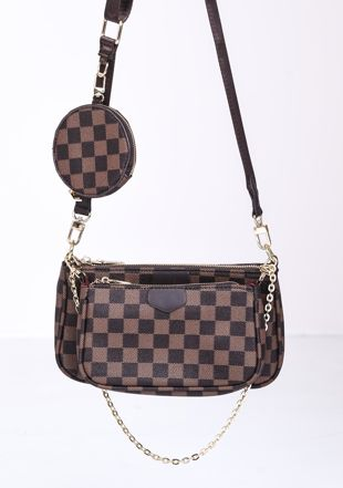 Trio Chain Cross Body Bag brown