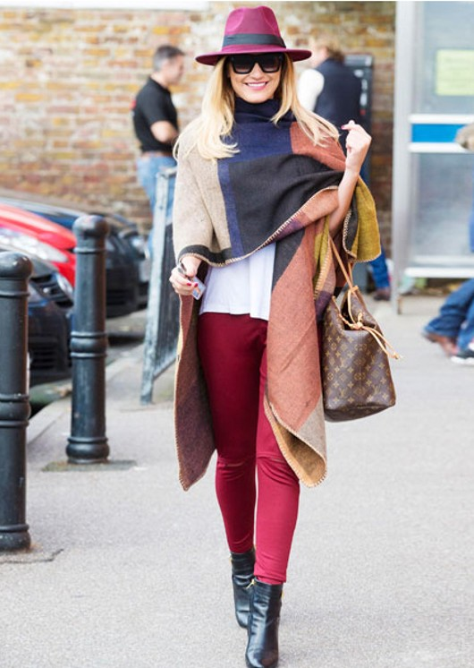 Blanket Stitch Cape Poncho -As Worn by TOWIE SAM FAIERS
