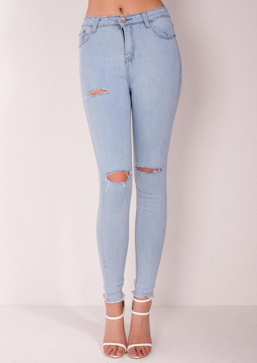 Amy High Waisted Ripped Jeans
