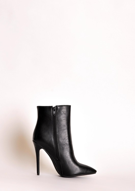 Aya Zip Ankle Boots Black