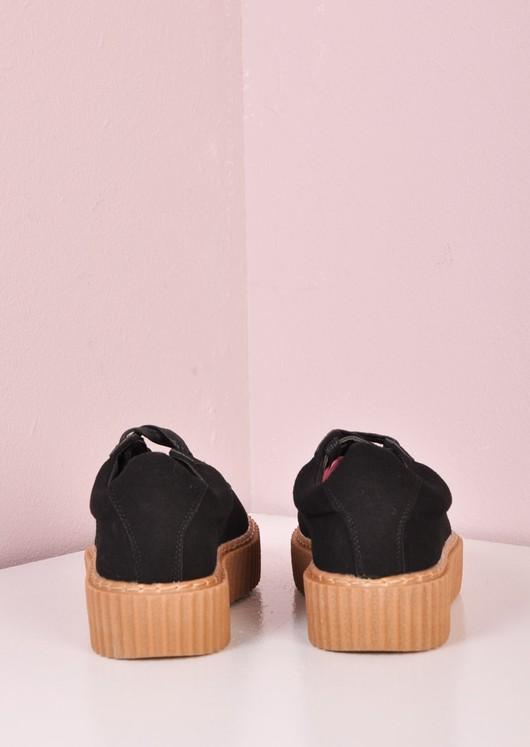 Lace Up Flatform Creepers Black/ Beige