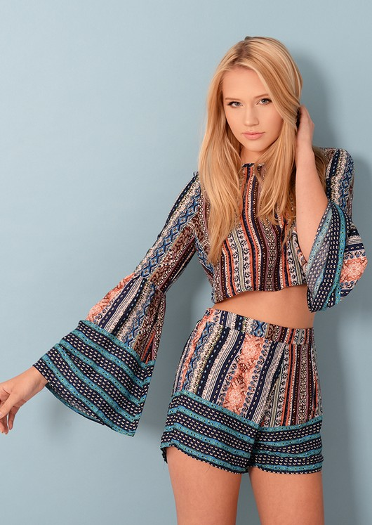 Aine Ethnic Open Back Co Ord