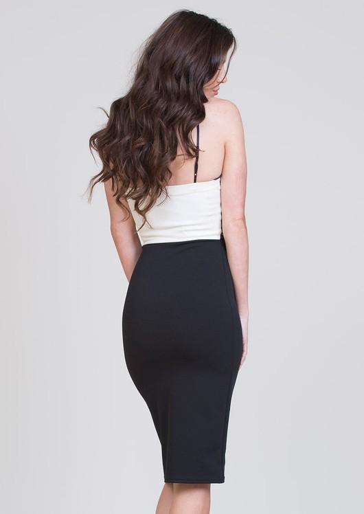 Scarlett Lace Trim Bodycon Dress