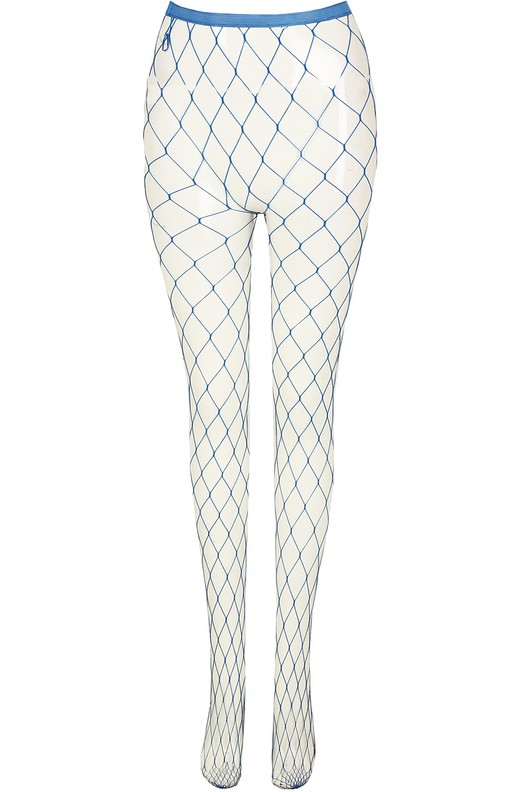Fishnet Diamond Tights Blue