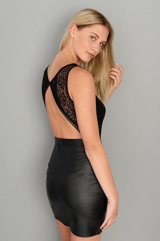 Kourtney Lace Open Back Bodysuit