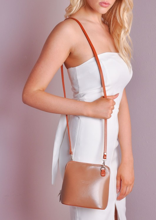 Mini Leather Shoulder Bag With Removable Straps