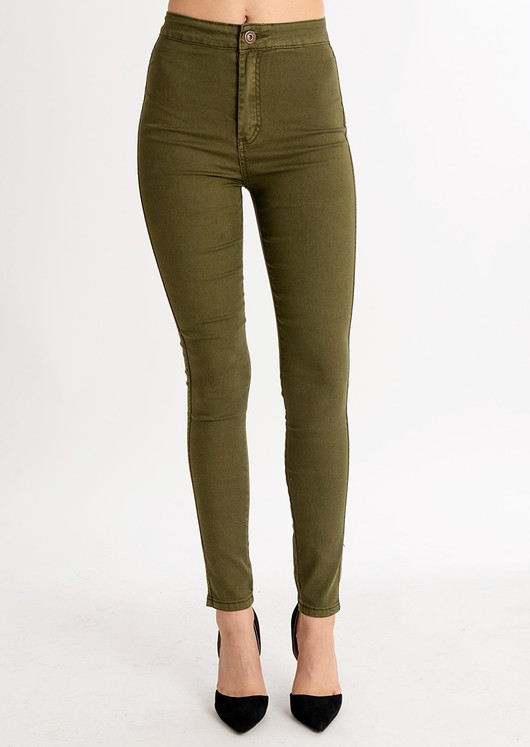 save off so cheap Super discount High Waisted Super Skinny Jeans Khaki