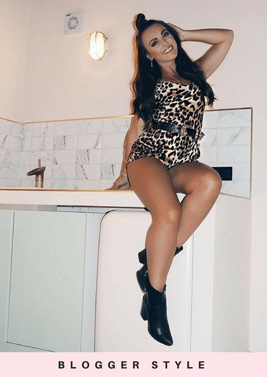 Leopard Print Satin Backless Cami Playsuit Multi