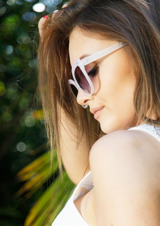 Dolly Cat Eye Sunglasses White