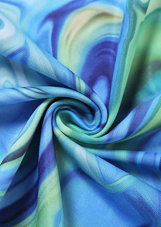 Abstract Slinky Halterneck Open Back Tie Mini Dress Pink