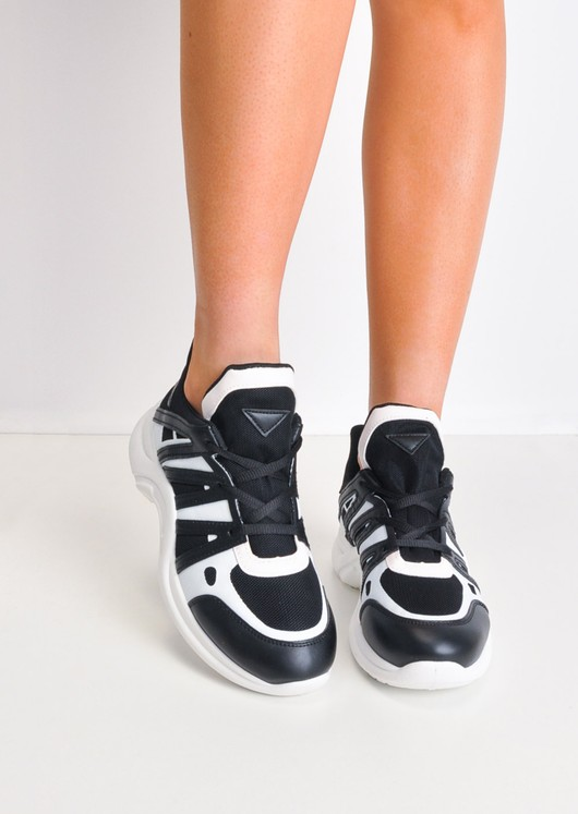 Contrast Arched Sole Chunky Trainers Black